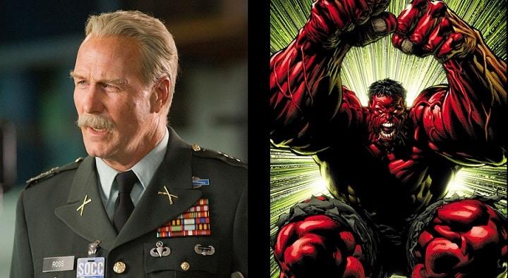 William Hurt General Ross Red Hulk