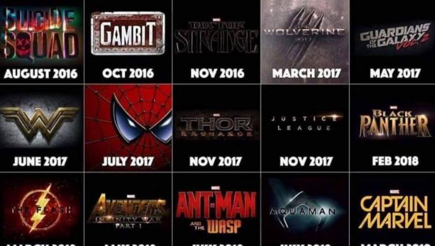 All Of The Superhero Films Coming Out Until 2020 - ScreenGeek