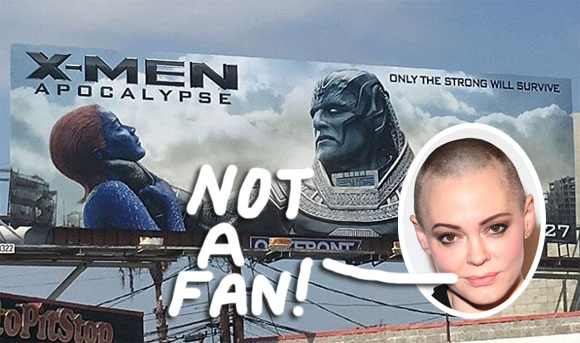 Actress Rose Mcgowan Claims X Men Billboard Is Sexist Fox Issues