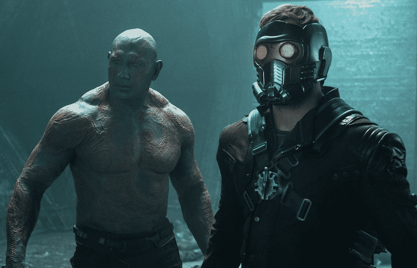 Dave Bautista Chris Pratt Guardians of the Galaxy