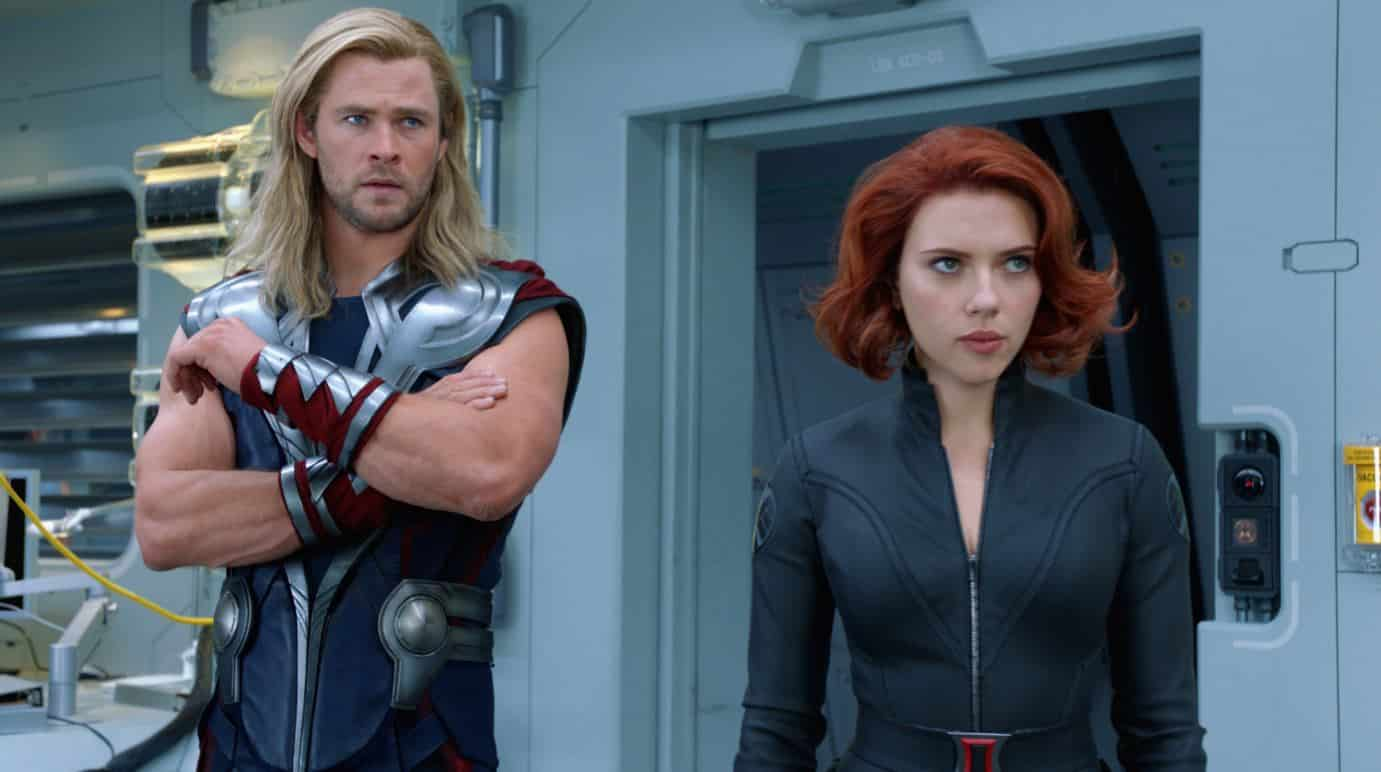 thor black widow avengers