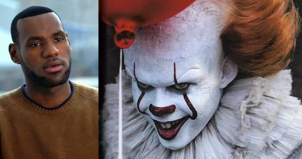 lebron james pennywise the clown it bill skarsgrd