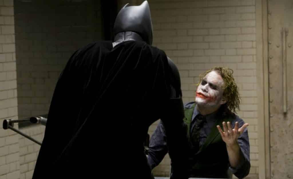 the dark knight heath ledger joker christian bale batman