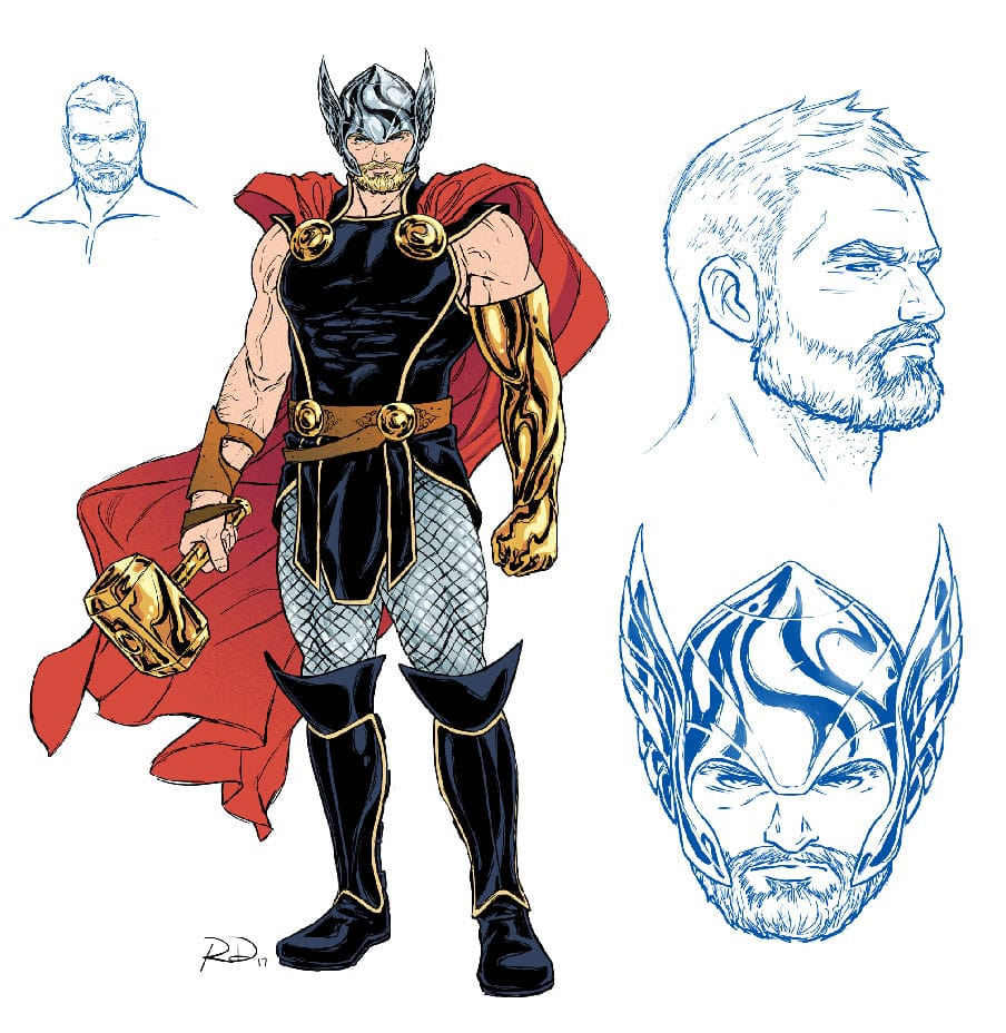 thor odinson redesign marvel comics