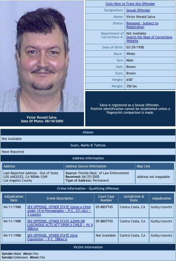 victor salva sex offender