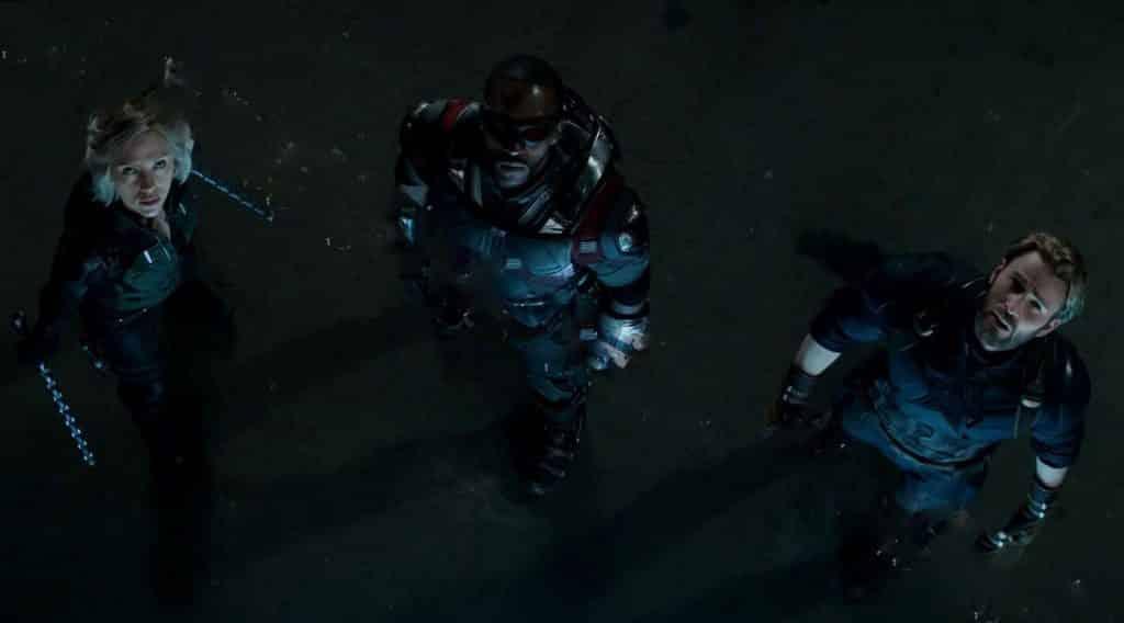 Avengers 4 Black Widow Falcon Captain America
