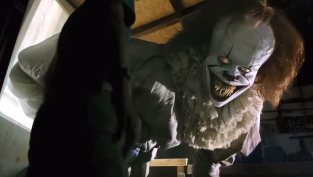 IT Movie Pennywise Bill Skarsgård Projector Scene