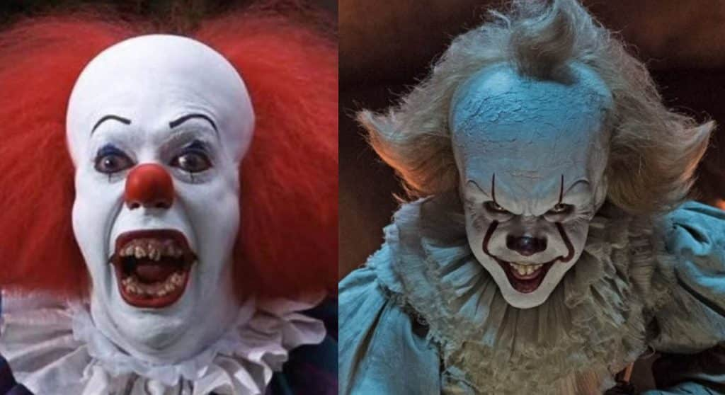 it s pennywise the clown 1990 vs 2017