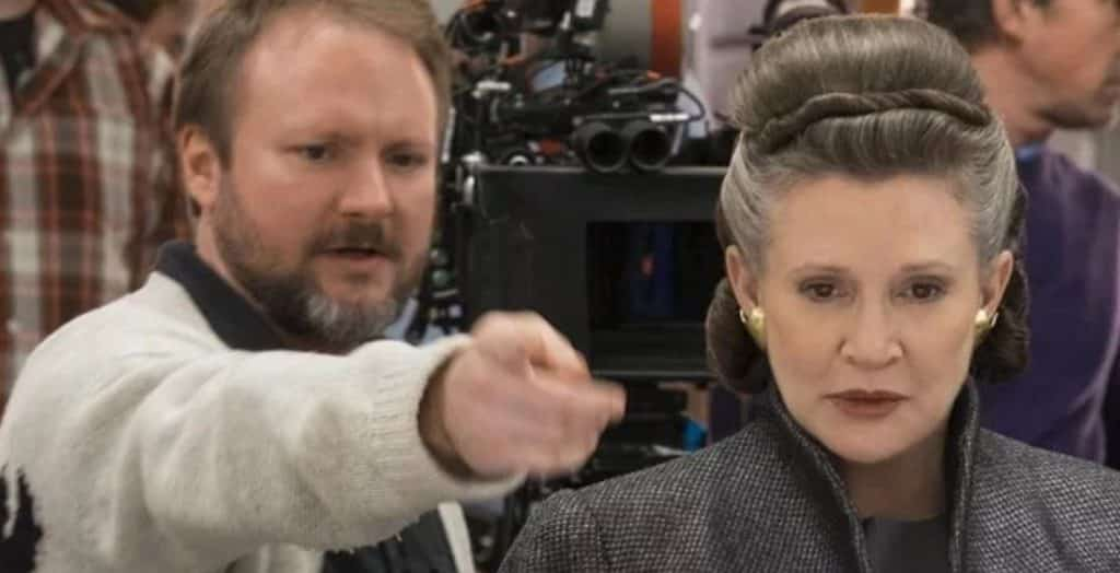 star wars rian johnson carrie fisher