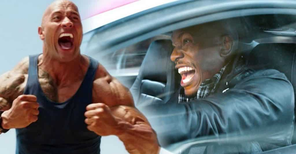 dwayne the rock johnson tyrese gibson fast & furious