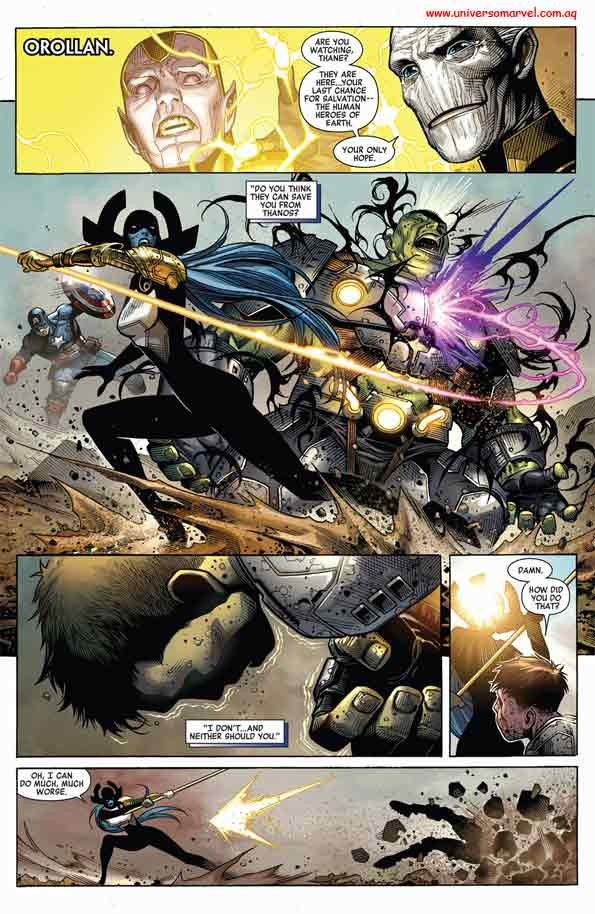 Proxima Midnight fights Hulk