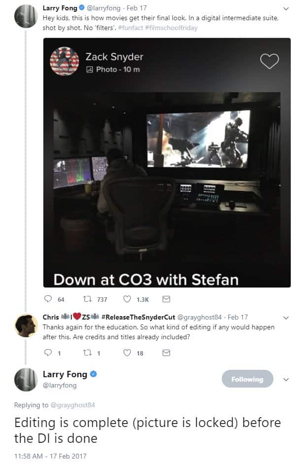 Zack Snyder Justice League Larry Fong