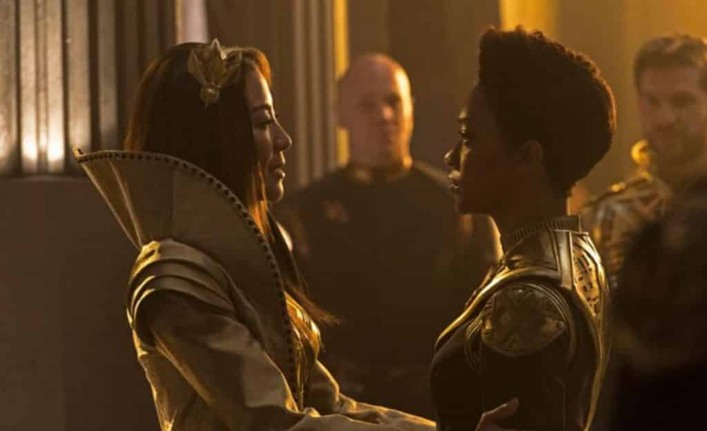 Emperor Georgiou Michele Yeoh Captain Burnham Sonequa Martin-Green Star Trek: Discovery