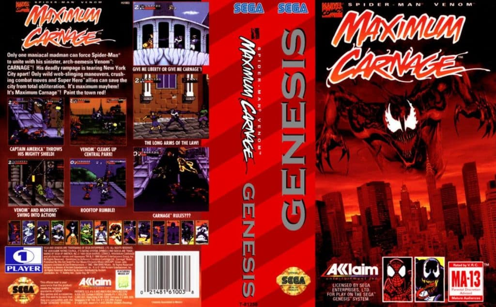 Maximum Carnage Sega Genesis