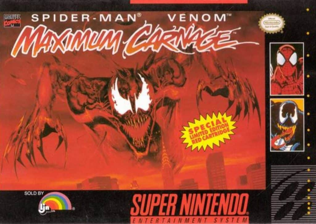 Spider-Man Venom Maximum Carnage Super Nintendo