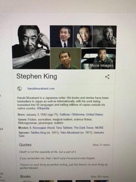 Stephen King Google
