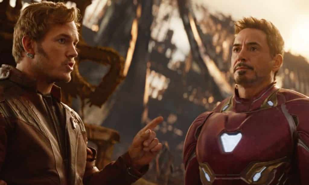 Avengers: Infinity War Star-Lord Iron Man