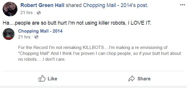 Chopping Mall Remake Robert Green Hall