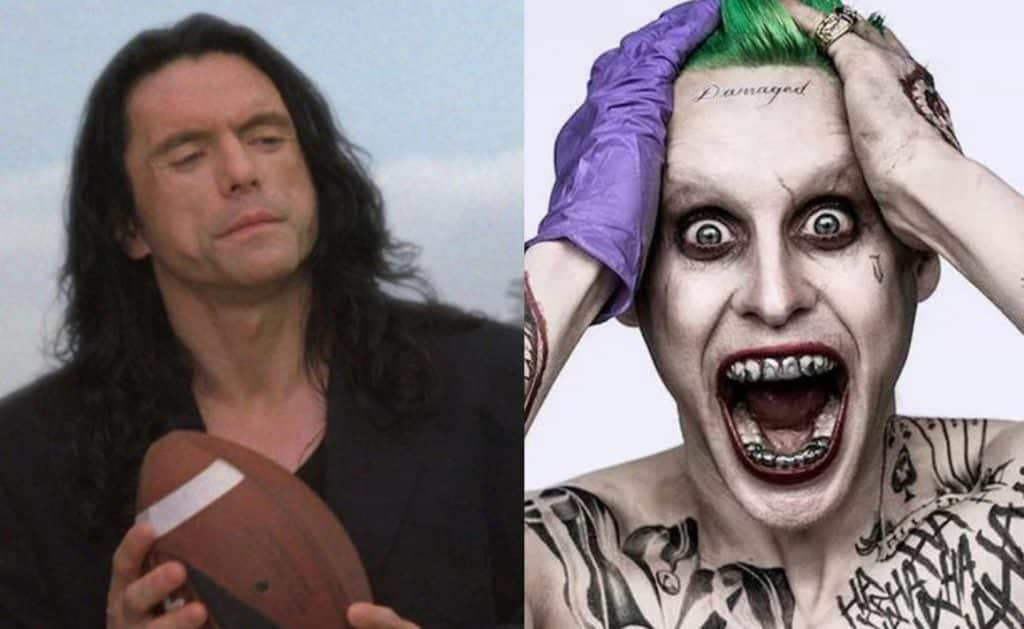 Tommy Wiseau Joker Jared Leto