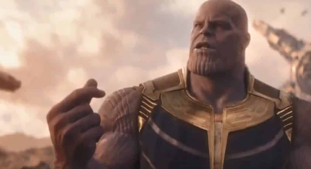 thanos threatens to snap his fingers in new  u0026 39 avengers  infinity war u0026 39  clip