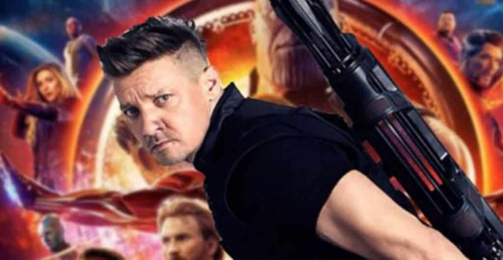 hawkeye was actually featured in early 'avengers: infinity war' promo