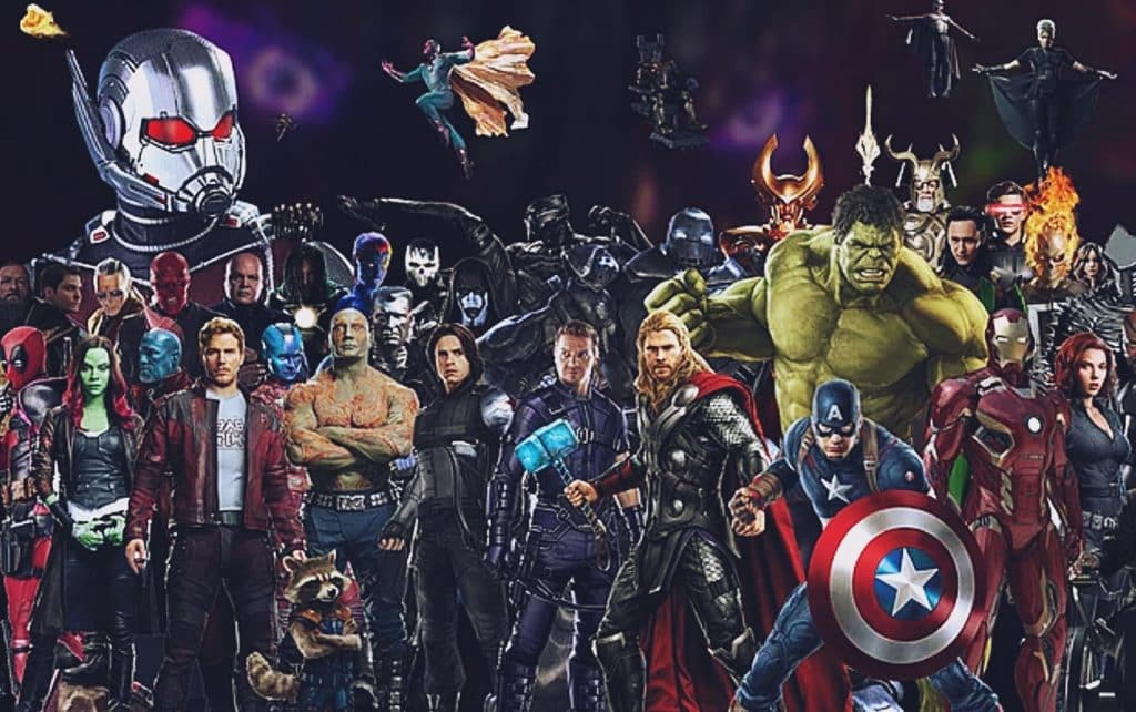 The main characters from Marvel's Cinematic Universe.