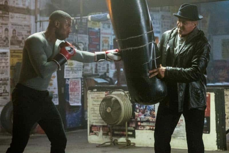 Michael B. Jordan stars as Adonis Creed and Sylvester Stallone as Rocky Balboa