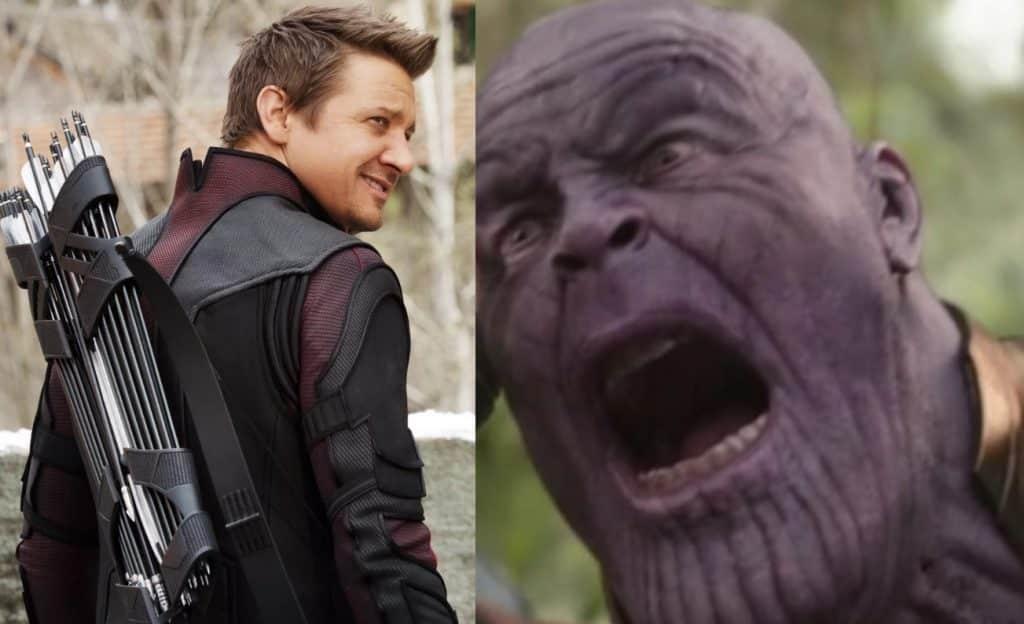 hawkeye kills thanos in  u0026 39 avengers  infinity war u0026 39  alternate ending