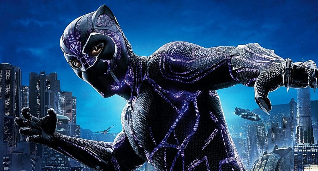 b09a4585 Hidden Text On 'Black Panther' Suit Actually Has A Pretty Sweet Message