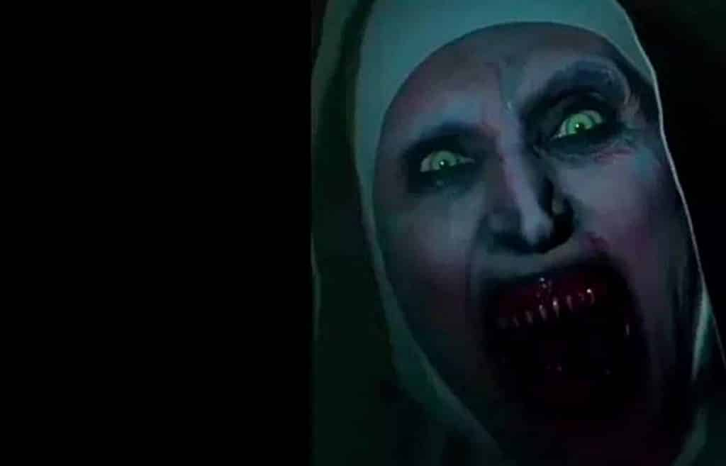 watch the terrifying  u0026 39 the nun u0026 39  teaser that was banned from