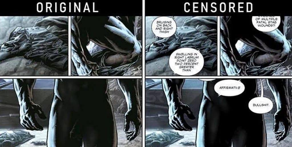 Batman Bruce Wayne Nude DC Comics