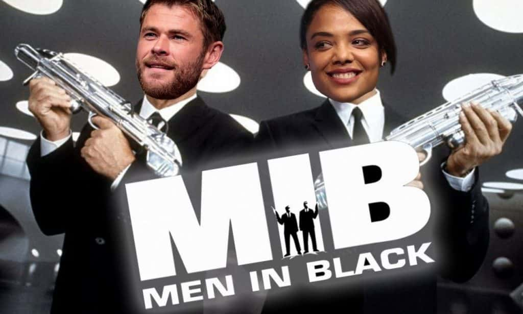 Men In Black 4 Set Video Offers First Look At Chris Hemsworth And Tessa Thompson