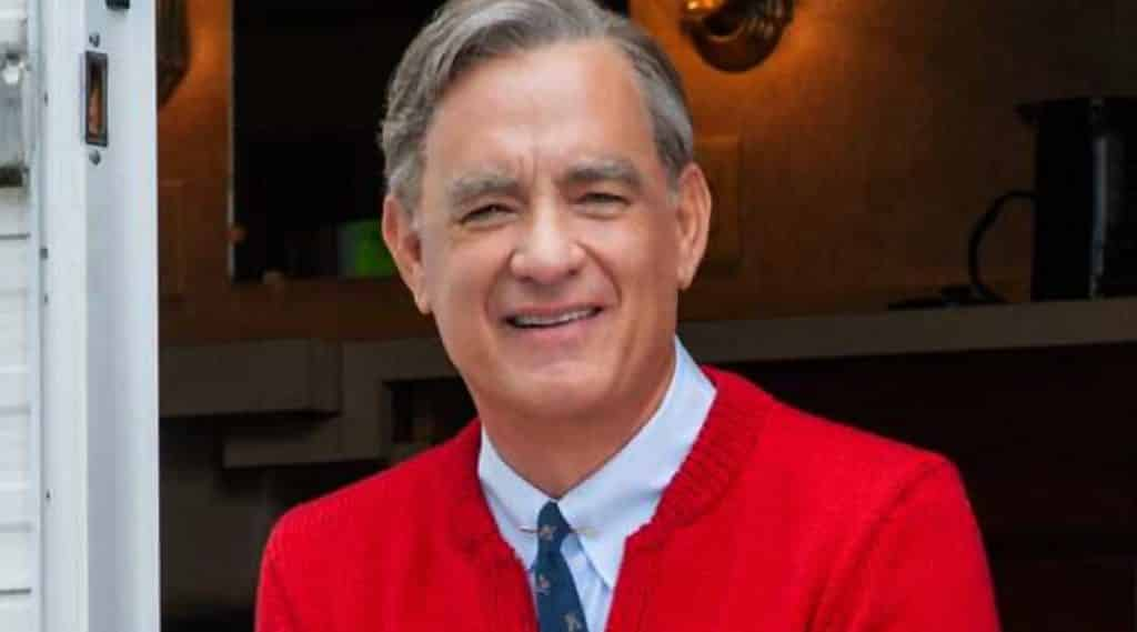 first look at tom hanks in upcoming mister rogers movie