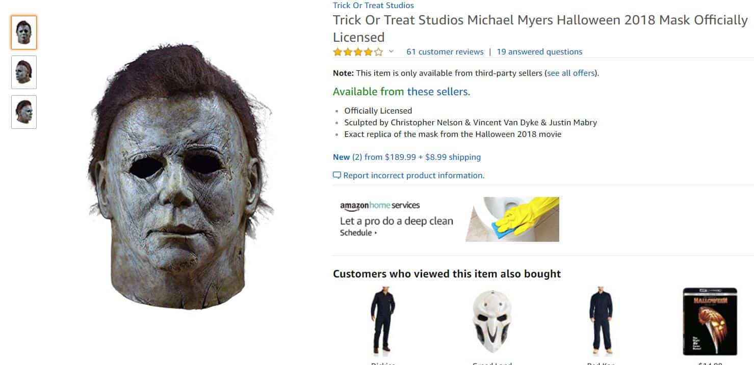 Halloween Saw A Rise In Counterfeit Michael Myers Masks