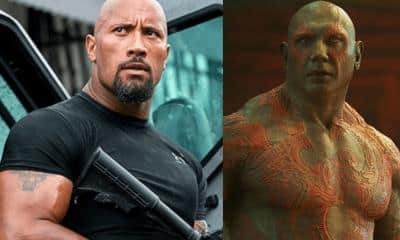 Dave Bautista Dwayne Johnson The Rock