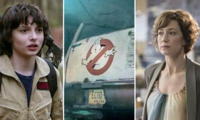 Ghostbusters Finn Wolfhard Carrie Coon