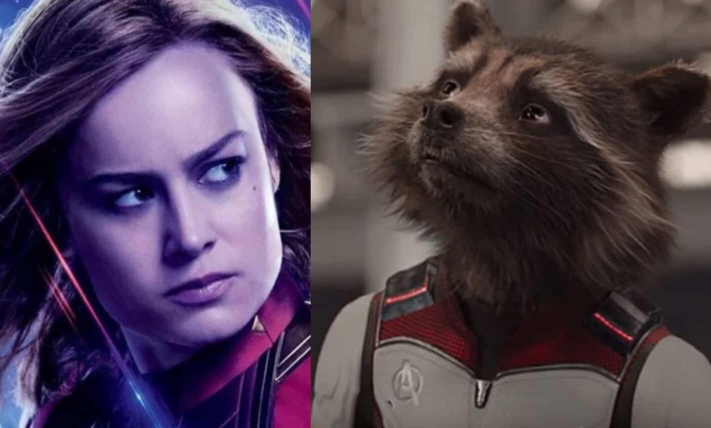 Avengers: Endgame Captain Marvel Rocket Raccoon