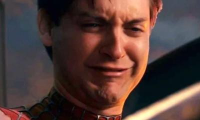 spider-man crying