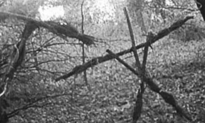 blair witch stick statues