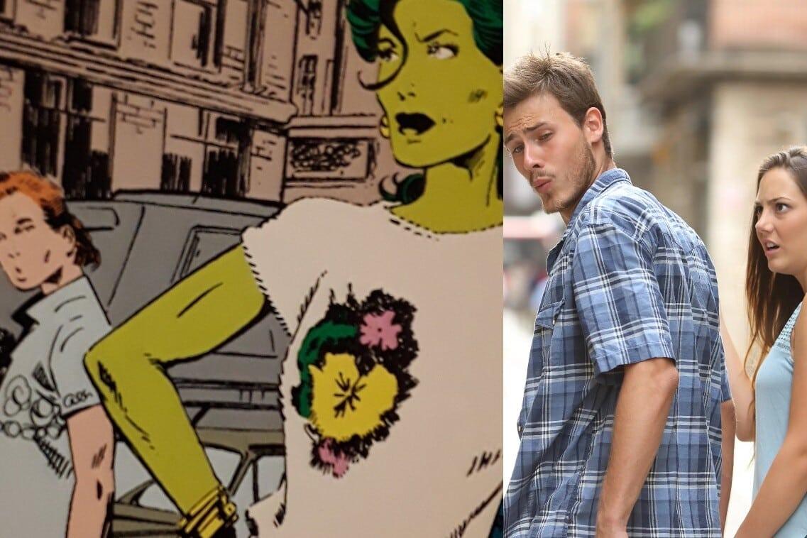 marvel distracted boyfriend meme